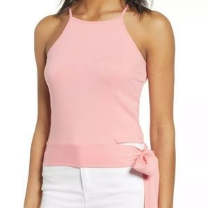 Nordstrom BP Pink Side Tie Tank Top Size Small